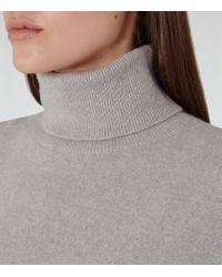 Reiss | Gray Zoya Cashmere Roll-neck Jumper | Lyst