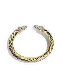 David Yurman | Metallic Waverly Cable Bracelet With Diamonds In Gold | Lyst