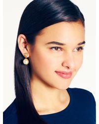 kate spade new york - White Pearl Street Drop Earrings - Lyst