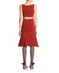 Proenza Schouler - Red Back-cutout Printed Dress - Lyst