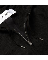 Chalayan | Black Terry Hoodie for Men | Lyst