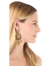 Oscar de la Renta - Metallic Coin Clip On Earrings - Lyst