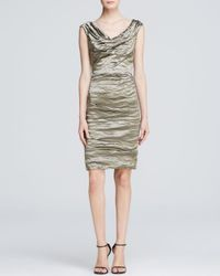 Nicole Miller Artelier | Green Dress - Techno Metal Sheath | Lyst