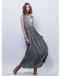 Free People - Gray Then I Fell Asleep In Your Arms Nightie - Lyst