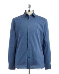 John Varvatos | Blue Textured Sportshirt for Men | Lyst