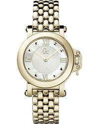 Gc - Blue X520041s Femme Bijou Gold-plated Watch - Lyst