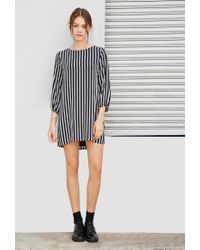 Forever 21 | Blue Striped Shift Dress | Lyst