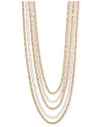 Jones New York | Metallic Two-tone Multi-strand Necklace | Lyst