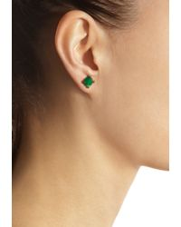 Cathy Waterman - Green Diamond Chrysoprase Stud Earrings - Lyst