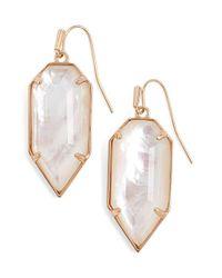 Kendra Scott - Pink 'palmer' Drop Earrings - Lyst