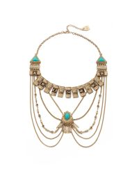 Adia Kibur - Metallic Victoria Necklace - Gold/turquoise - Lyst