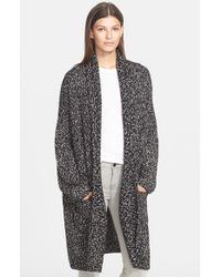 Vince - Black Multicolor Shawl Collar Cardigan - Lyst