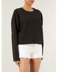 T By Alexander Wang - Black Dolman Sweatshirt - Lyst
