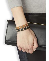 Valentino - Rockstud Mini Black Leather Bracelet - Lyst