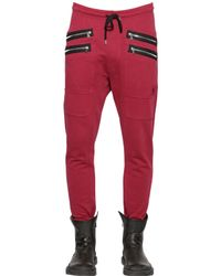 Markus Lupfer | Red Heavy Cotton Jersey Jogging Trousers for Men | Lyst