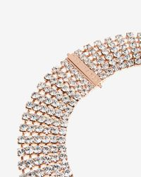 Ted Baker | Pink Crystal Row Necklace | Lyst