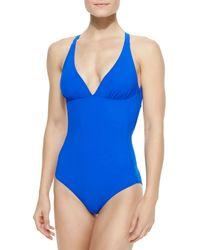 Commando - Blue Deep Dive Reversible One-Piece Swimsuit - Lyst