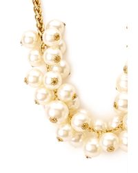 Forever 21 | Metallic Faux Pearl Cluster Necklace | Lyst