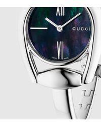 Gucci - Gray Horsebit Bracelet Stainless Steel Watch - Lyst