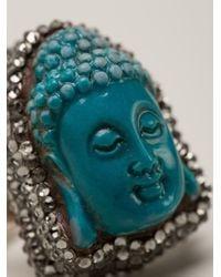 Roni Blanshay | Blue Buddha Ring | Lyst