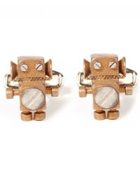 Paul Smith | Metallic Bronze-tone Robot Cufflinks for Men | Lyst