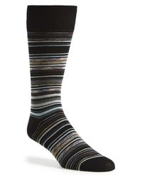 Calibrate | Black Stripe Socks for Men | Lyst