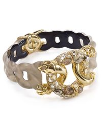 Alexis Bittar - Gray Lucite & Crystal Lace Linked Hinge Bangle - Lyst