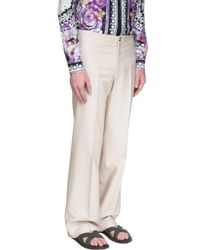Versace - Natural Wide Leg Trousers for Men - Lyst