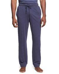 Daniel Buchler - Blue Slub Cotton Lounge Pants for Men - Lyst
