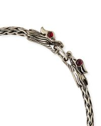 John Hardy - Metallic Naga Silver Dragon-head Bracelet for Men - Lyst
