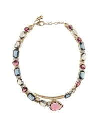 Roberto Cavalli - Multicolor Crystal-embellished Necklace - Lyst