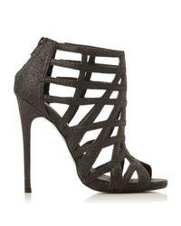 Steve Madden | Black Marquee Caged Heel Sandals | Lyst