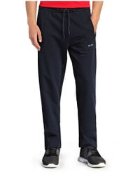 BOSS Green - Blue 'halvo' Cotton Tracksuit Bottoms for Men - Lyst