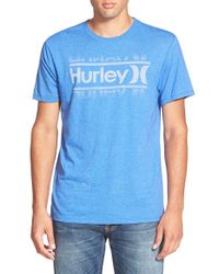 Hurley - Blue 'Swim' Graphic T-Shirt for Men - Lyst