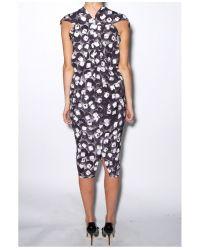 Zero + Maria Cornejo - Black Silk Pailette Print Issa Dress - Lyst