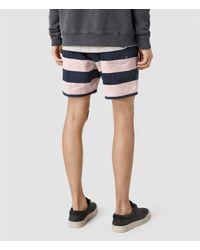 AllSaints - Pink Spinnaker Swimshort for Men - Lyst