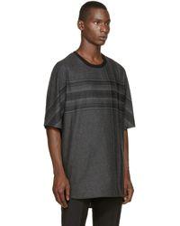 3.1 Phillip Lim | Gray Grey Plaid Flannel T-shirt for Men | Lyst
