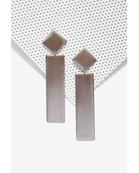 Nasty Gal - Metallic Just Drop It Earrings - Lyst