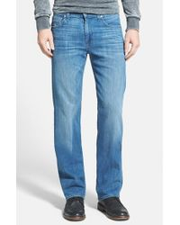 7 For All Mankind | Blue 'Austyn - Luxe Performance' Relaxed Straight Leg Jeans for Men | Lyst