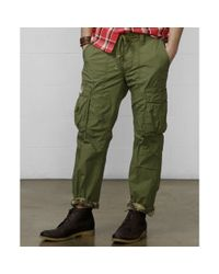 Denim & Supply Ralph Lauren | Green Slimfit Poplin Cargo Pants for Men | Lyst