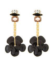 Lizzie Fortunato | Black Retro Flower Earrings | Lyst