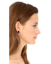 Kate Spade | Blue Rectangle Cut Stud Earrings | Lyst