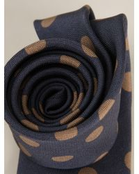 Dolce & Gabbana - Blue Polka Dot Print Tie for Men - Lyst