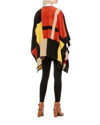 Vince Camuto | Multicolor Colorblocked Blanket Poncho | Lyst