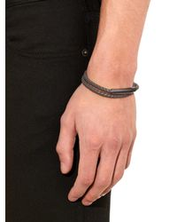 Bottega Veneta | Gray Intrecciato Leather Bracelet for Men | Lyst