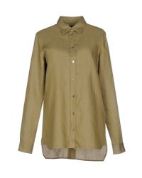 MM6 by Maison Martin Margiela | Green Shirt | Lyst