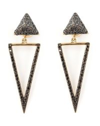 Ileana Makri | Metallic 'bermuda Triangle' Diamond Earrings | Lyst