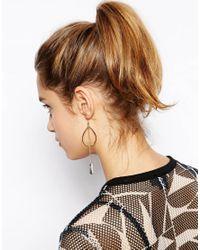 ASOS - Metallic Fine Leaf Drop Earrings - Lyst