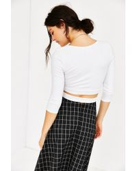 Truly Madly Deeply - White Criss-cross Top - Lyst