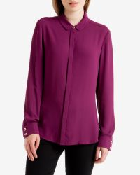 Ted Baker | Purple Ottoman Panel Shirt | Lyst